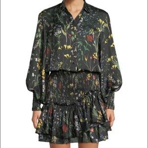 Beautiful ALEXIS Black Rianna Floral Flounce Dress